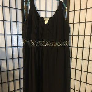 Ulla Popken black chiffon sequin dress - size 32